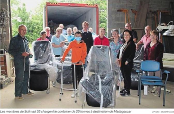 Dons de matériel médical pour Madagascar